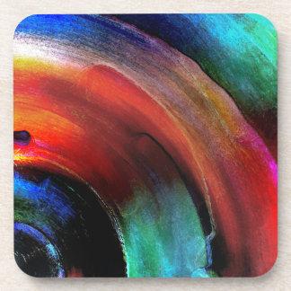 Quarter Round Colors Beverage Coaster