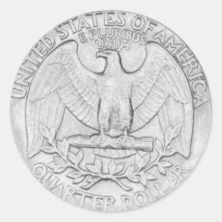 Quarter Sticker