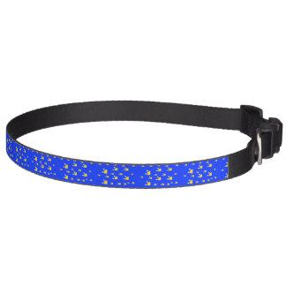 Quarter sun blue yellow pattern pet collar