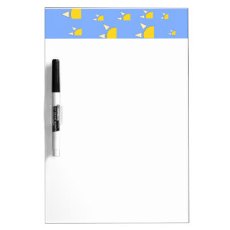 Quarter sun pale blue yellow pattern dry erase board