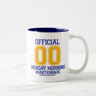 Quarterback - Blue/Gold Two-Tone Coffee Mug