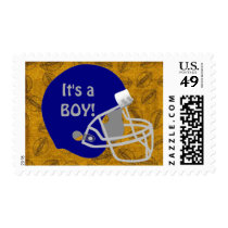 Quarterback football themed Baby Shower Postage