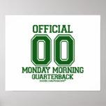 Quarterback - Green Poster
