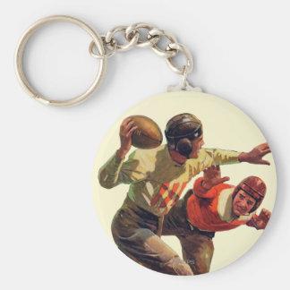Quarterback Pass Basic Round Button Keychain