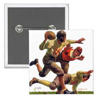 Quarterback Pass Pinback Button