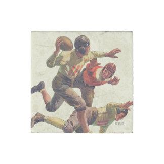 Quarterback Pass Stone Magnet