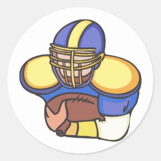 Quarterback Classic Round Sticker