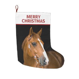 Quarterhorse Merry Christmas 2 Side Stocking
