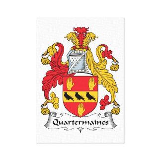 Quartermaines Family Crest Canvas Prints