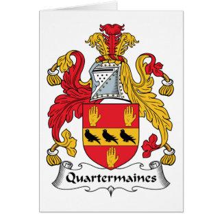 Quartermaines Family Crest Card