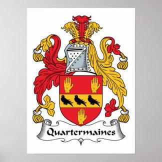 Quartermaines Family Crest Posters