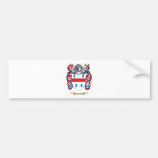 Quarterman Coat of Arms (Family Crest) Bumper Sticker