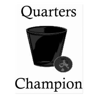 Quarters Champion Post Card