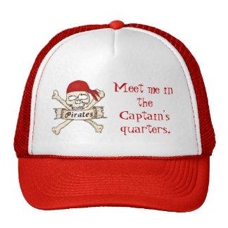Quarters del pirata de capitán gorros bordados