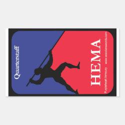 Quarterstaff HEMA decal Rectangular Sticker