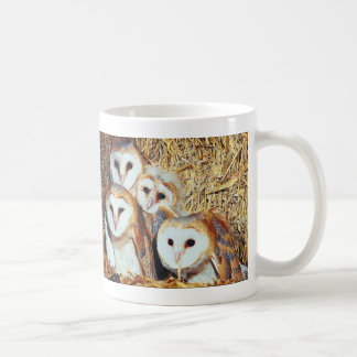 Quartet of Barn Owls Coffee Mug
