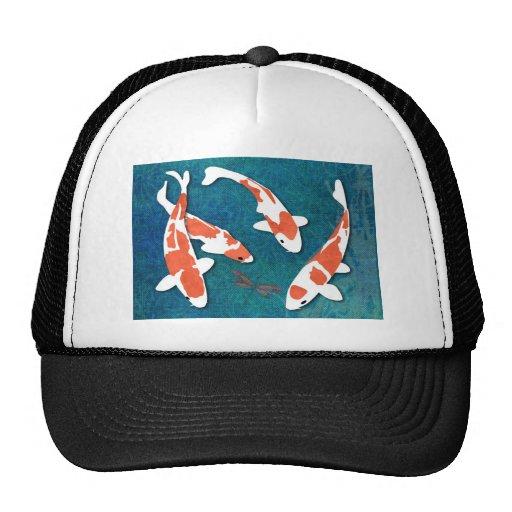 Quartet of Orange & White Kohaku Koi Trucker Hat