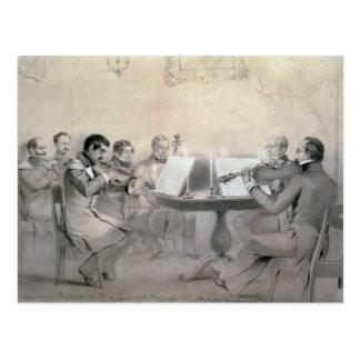 Quartet of the Composer Count A. F. Lvov, 1840 Postcards