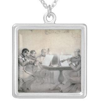 Quartet of the Composer Count A. F. Lvov, 1840 Square Pendant Necklace