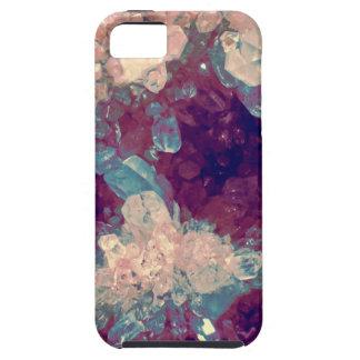 quartz crystal gem cluster iPhone SE/5/5s case