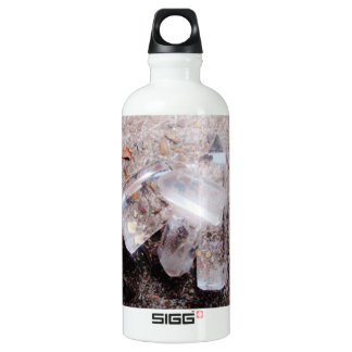 Quartz crystal points water bottle