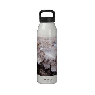 Quartz crystal points reusable water bottle