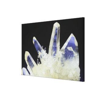 Quartz crystals (SiO2), Peru, South America Canvas Print