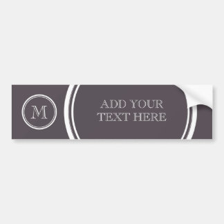Quartz High End Colored Personalized Bumper Sticker
