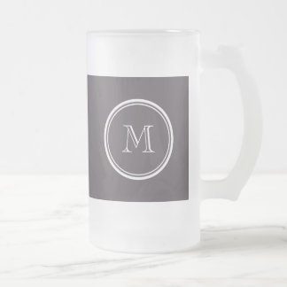 Quartz High End Colored Personalized Frosted Glass Beer Mug