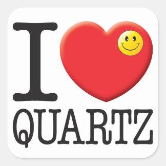 Quartz Love Square Sticker