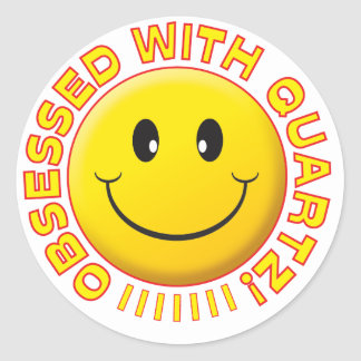 Quartz Obsessed Smile Stickers
