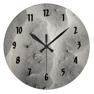 Quartz Sand Abstract Large Clock