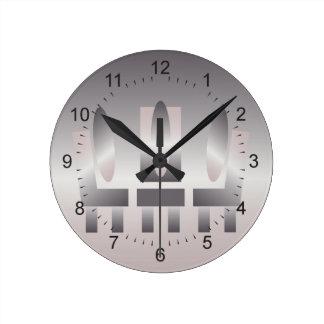 quartz shades meeting round clock