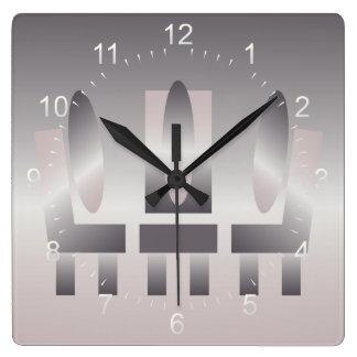 quartz shades meeting square wall clock