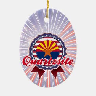 Quartzsite, AZ Double-Sided Oval Ceramic Christmas Ornament