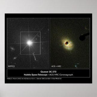 Quasar 3C 273 Hubble Telescope Poster
