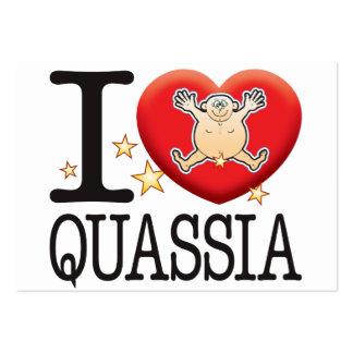 Quassia Love Man Large Business Card