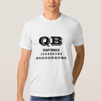 Quaterback jersey numbers T-Shirt