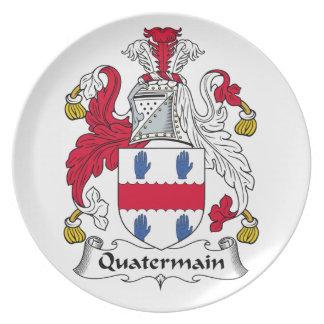 Quatermain Family Crest Party Plates
