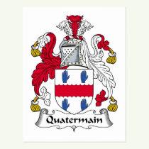 Quatermain Family Crest Postcard