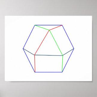 Quaternion Cosmos in White Posters