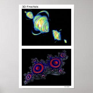 quaternion_d1 quaternion_b1 3D Fractals Poster