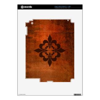 Quatre Fleur de Lis Decals For iPad 2