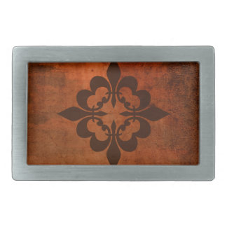 Quatre Fleur de Lis Rectangular Belt Buckle