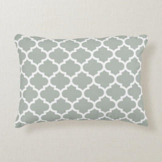 Quatrefoil Accent Pillow - Silver Gray Pattern