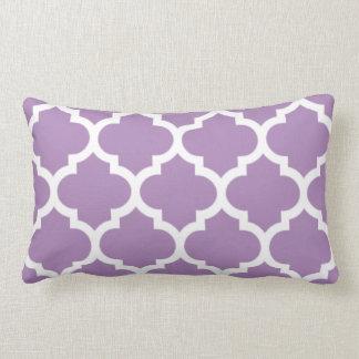 quatrefoil african violet purple lumbar pillow