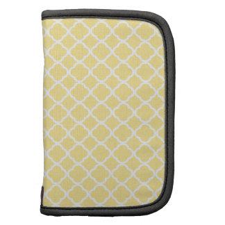 Quatrefoil amarillo y blanco del ánimo de limón. M Planificador