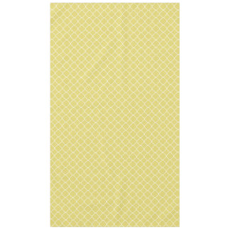 Quatrefoil amarillo y blanco soleado manteles