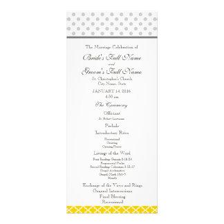 Quatrefoil amarillo y modelo de lunar gris tarjetas publicitarias a todo color