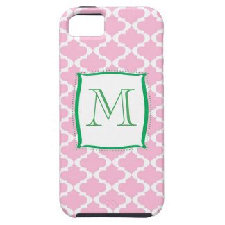 Quatrefoil and Monogram Case iPHONE by Mally Mac iPhone 5 Cover